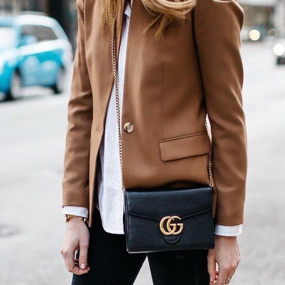 9ec4f408ea GUCCI | Marmont Leather Mini Wallet on Chain